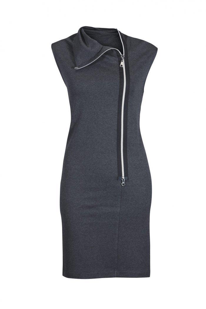 spiritim Jerseykleid Zipp
